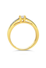 18kt yellow gold engagement ring with 0.47 ct diamonds