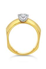 18kt geel goud verlovingsring met 0.50 ct diamant