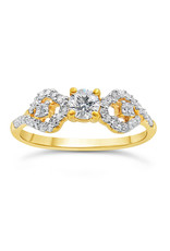 18kt yellow gold engagement ring with 0.49 ct diamonds