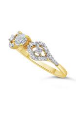 18kt geel goud verlovingsring met 0.49 ct diamanten