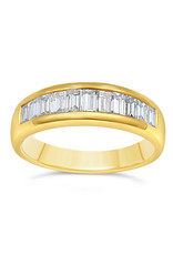 18k yellow gold ring with 0.97 ct diamonds      -