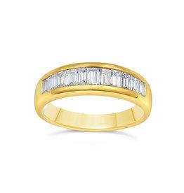 18k geel goud ring met 0.97 ct diamanten