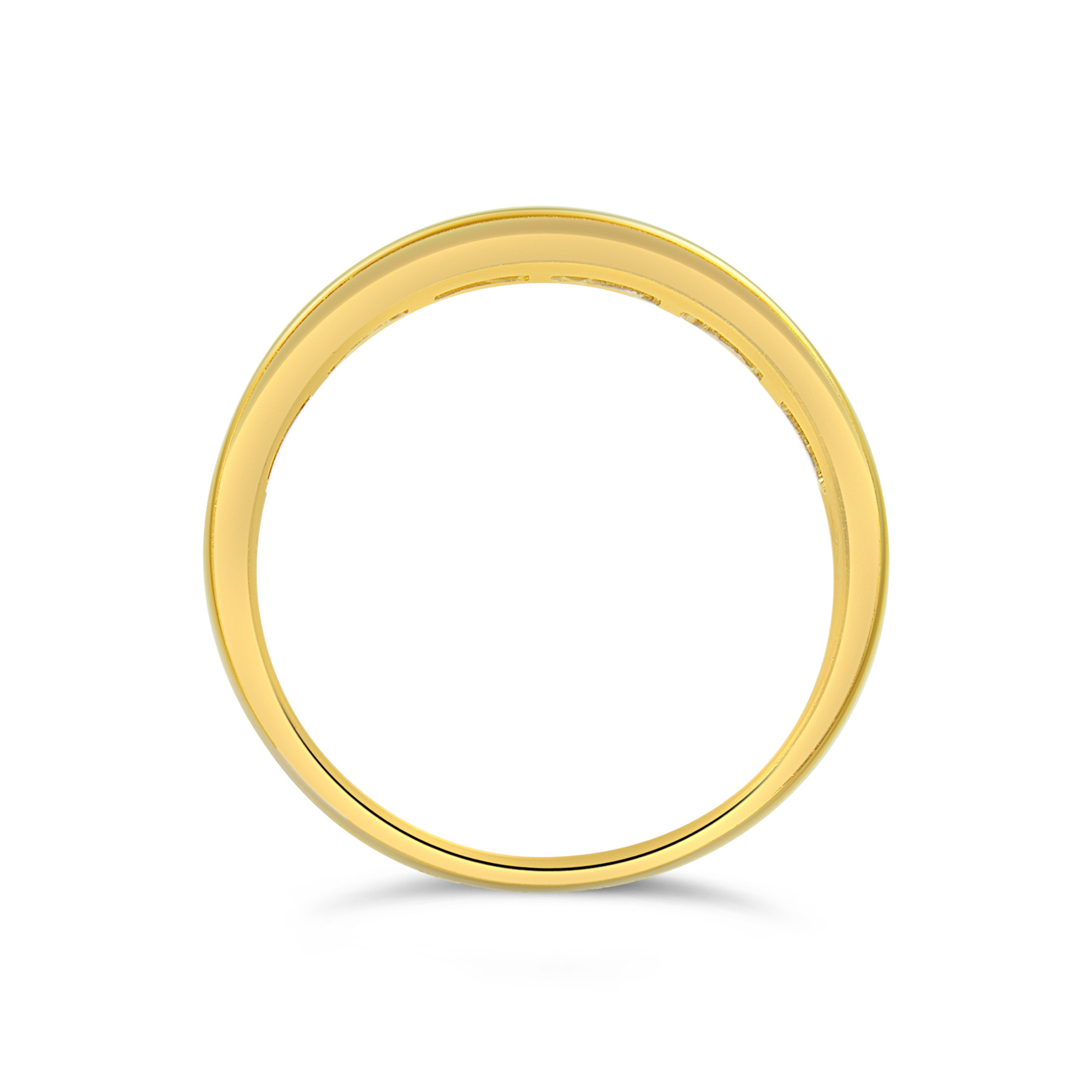 18k yellow gold ring with 0.30 ct diamonds