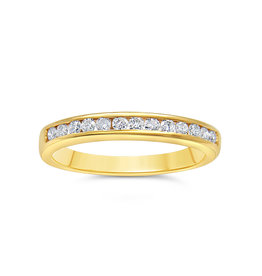 18k yellow gold ring with 0.55 ct diamonds