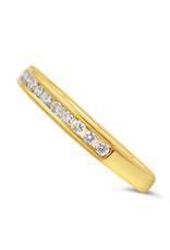 18k geel goud ring met 0.55 ct diamanten