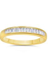 18k geel goud ring met 0.42 ct diamanten