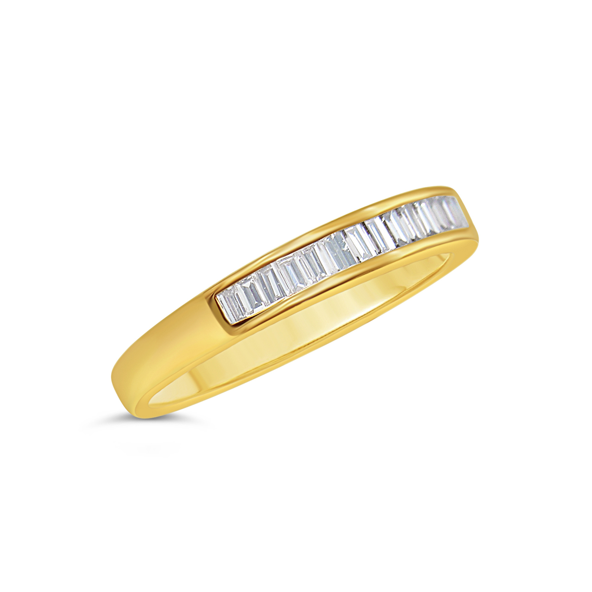 18k yellow gold ring with 0.42 ct diamonds
