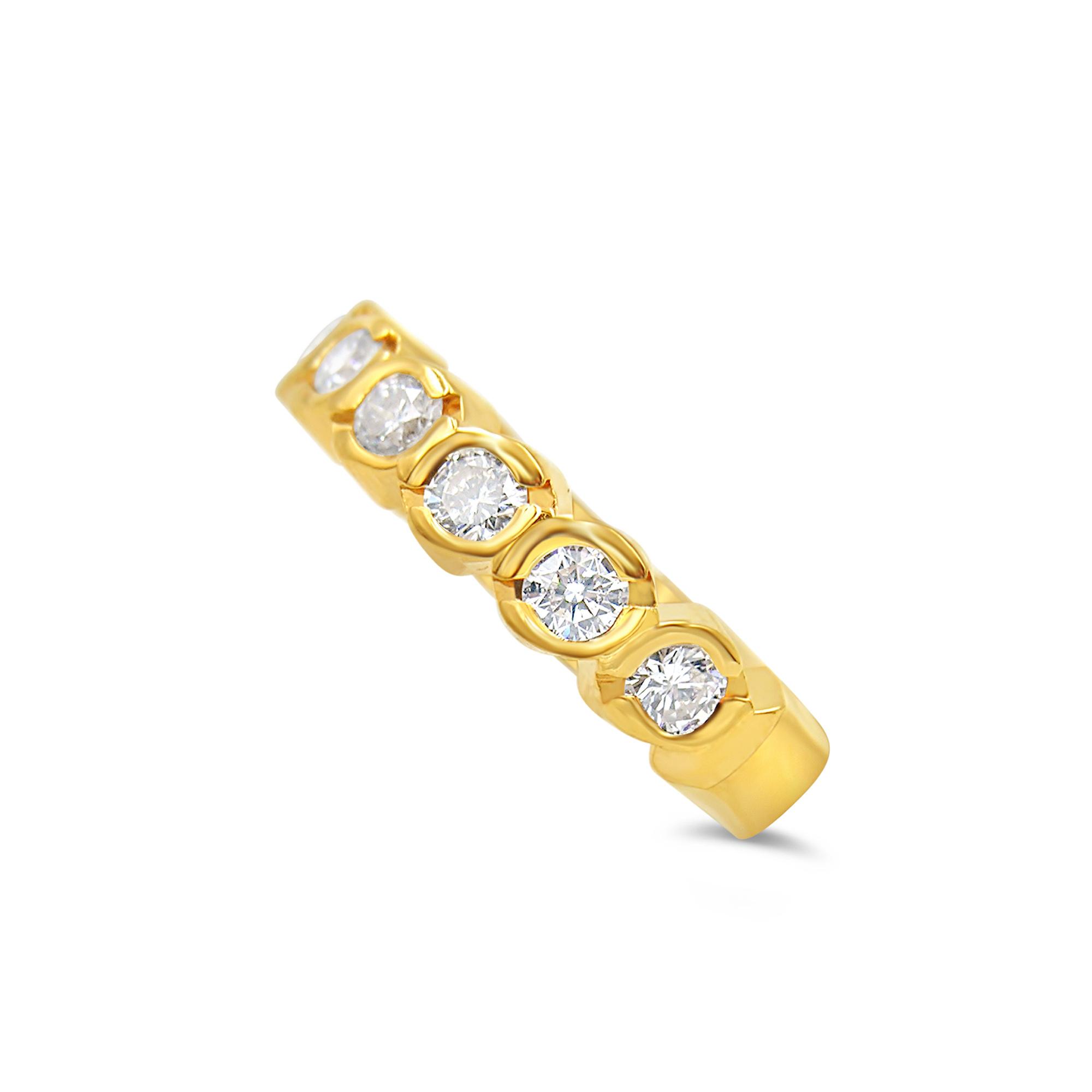 18k geel goud ring met 0.63 ct diamanten