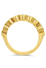 18k yellow gold ring with 0.63 ct diamonds