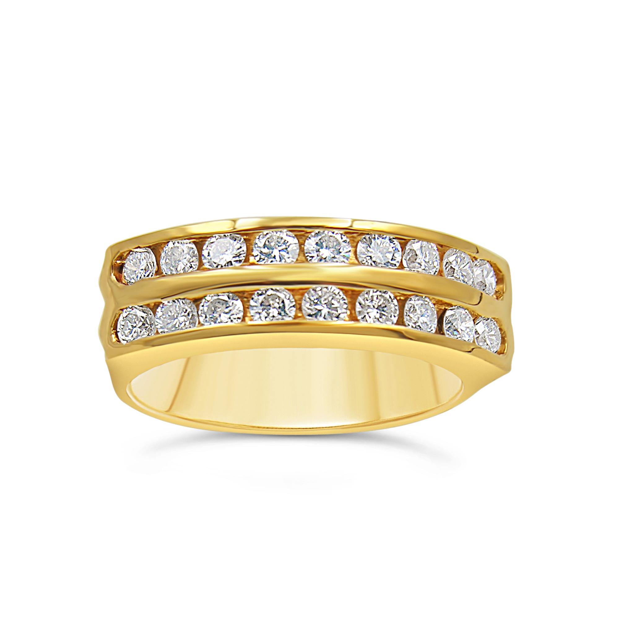 18k yellow gold ring with 0.70 ct diamonds