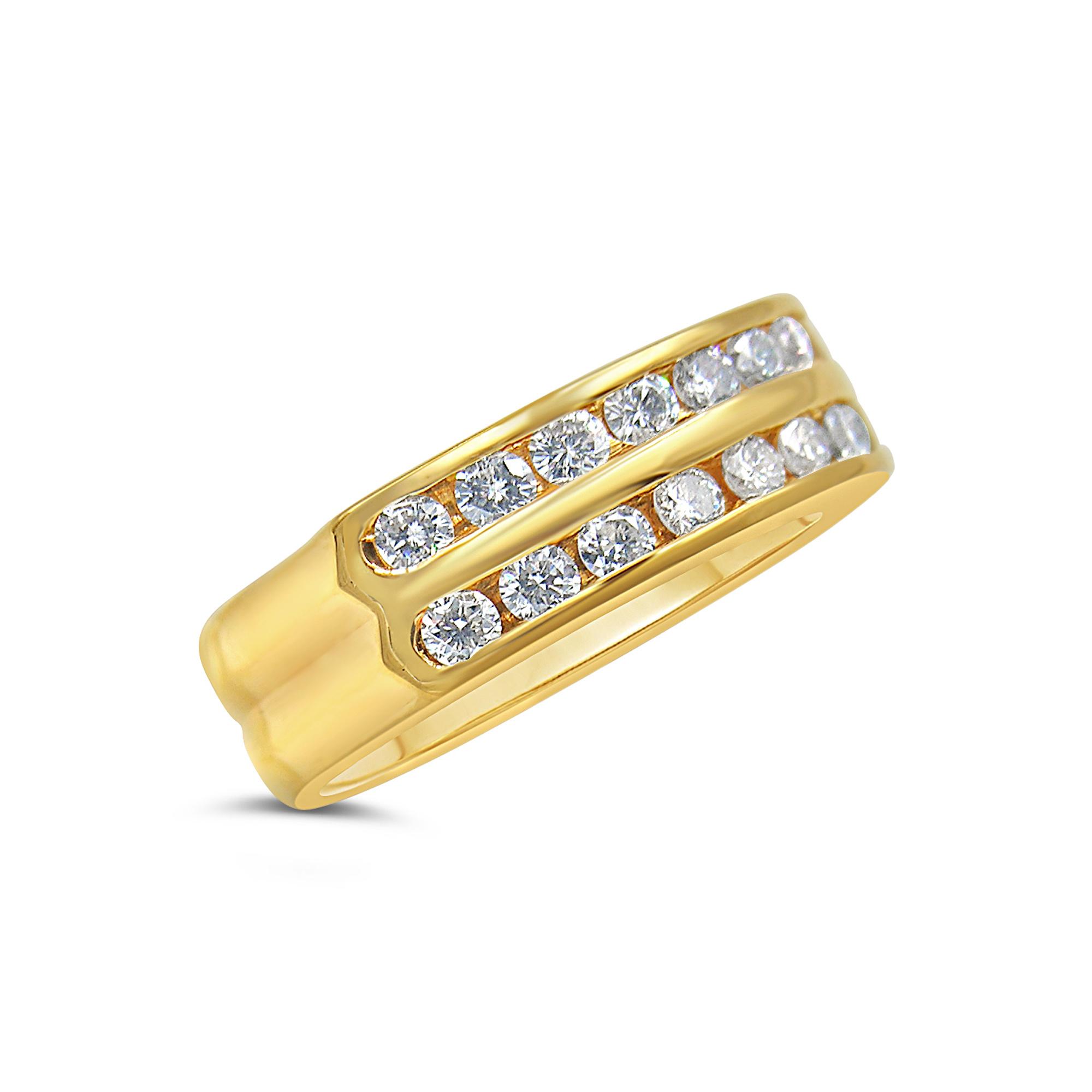 18k geel goud ring met 0.70 ct diamanten