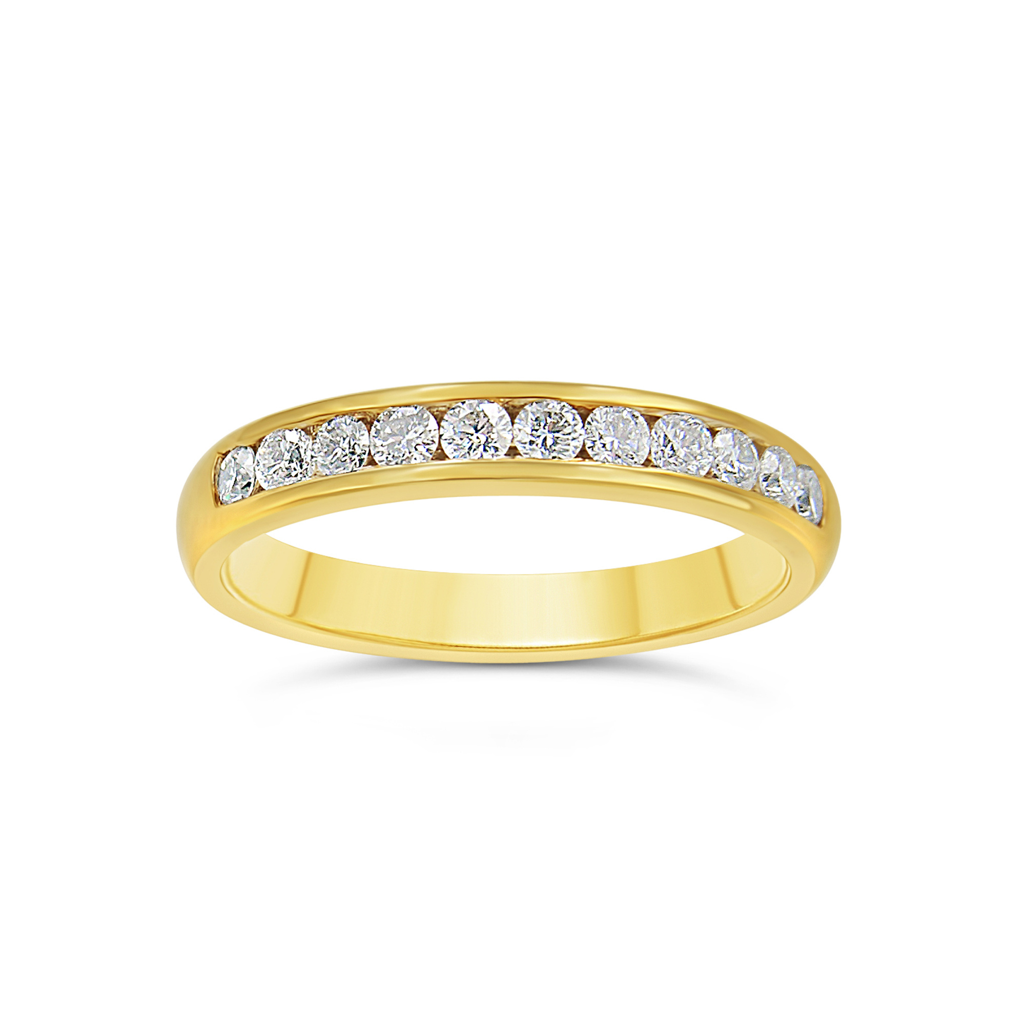 18k yellow gold ring with 0.52 ct diamonds