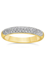 18k yellow & white gold ring with 0.50 ct diamonds