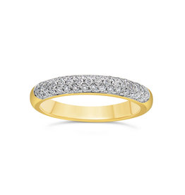 18k yellow & white gold ring with 0.50 ct diamonds