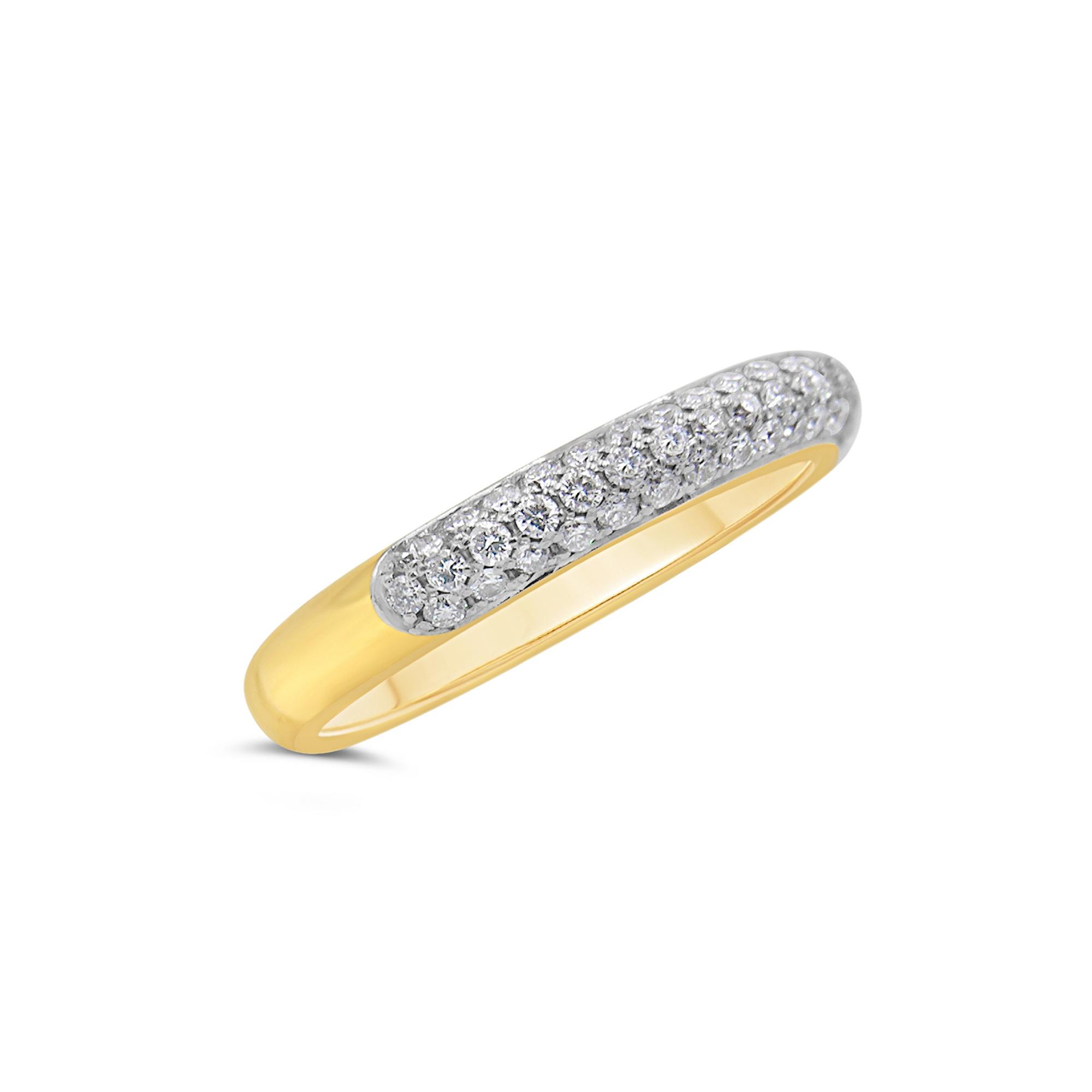 18k geel & wit goud ring met 0.50 ct diamanten