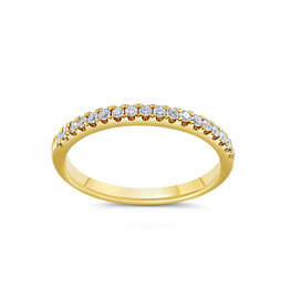 18k geel goud ring met 0.20 ct diamanten