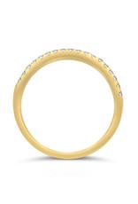 18k geel goud ring met 0.20 ct diamanten