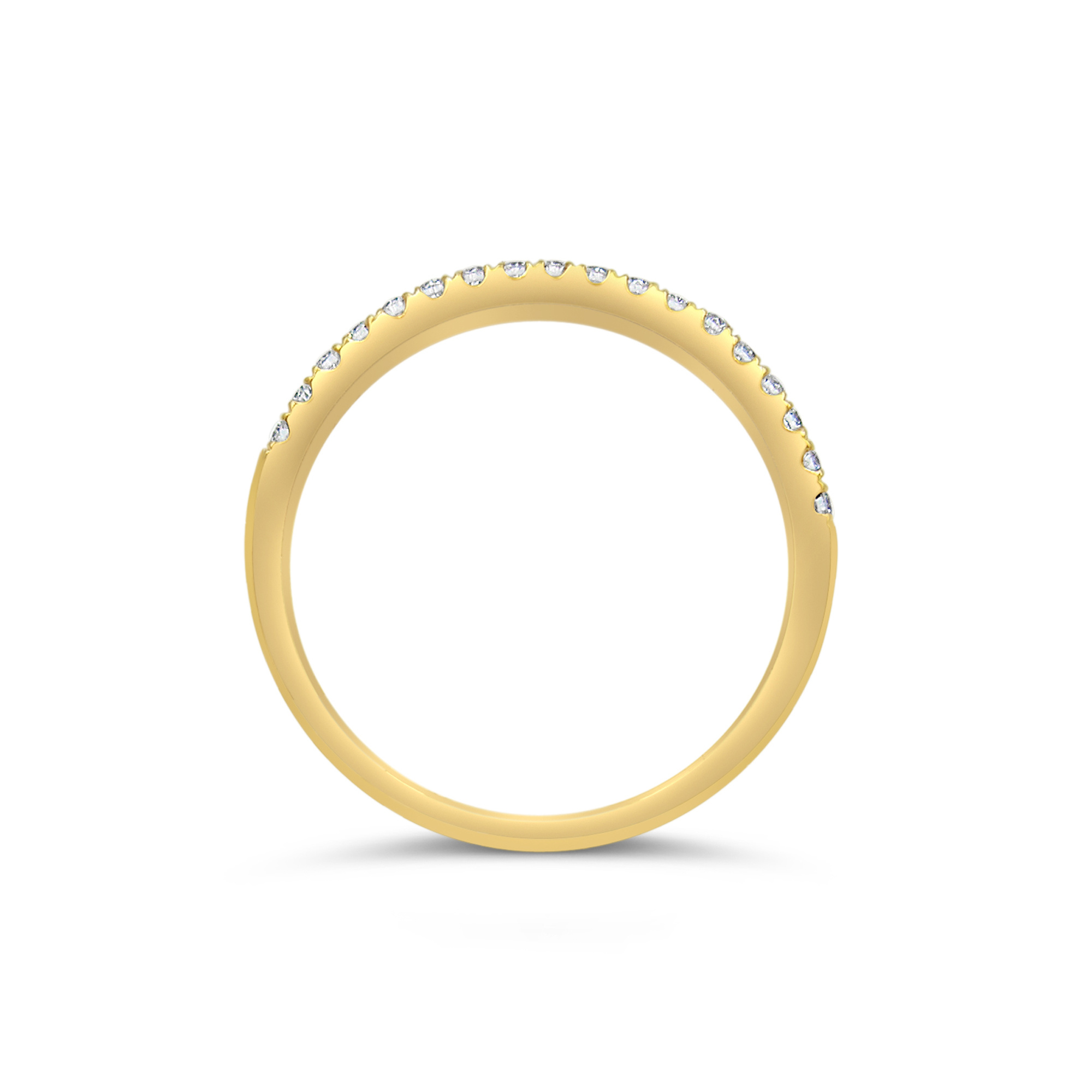 18k yellow gold ring with 0.20 ct diamonds
