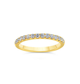 18k yellow gold ring with 0.37 ct diamonds