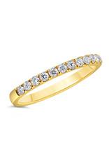 18k geel goud ring met 0.37 ct diamanten