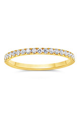18k geel goud ring met 0.32 ct diamanten