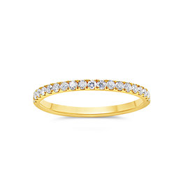 18k yellow gold ring with 0.32 ct diamonds