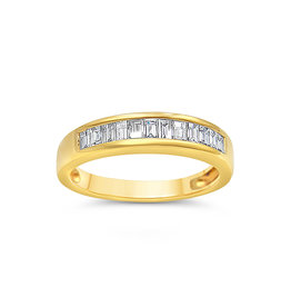 18k yellow gold ring with 0.43 ct diamonds