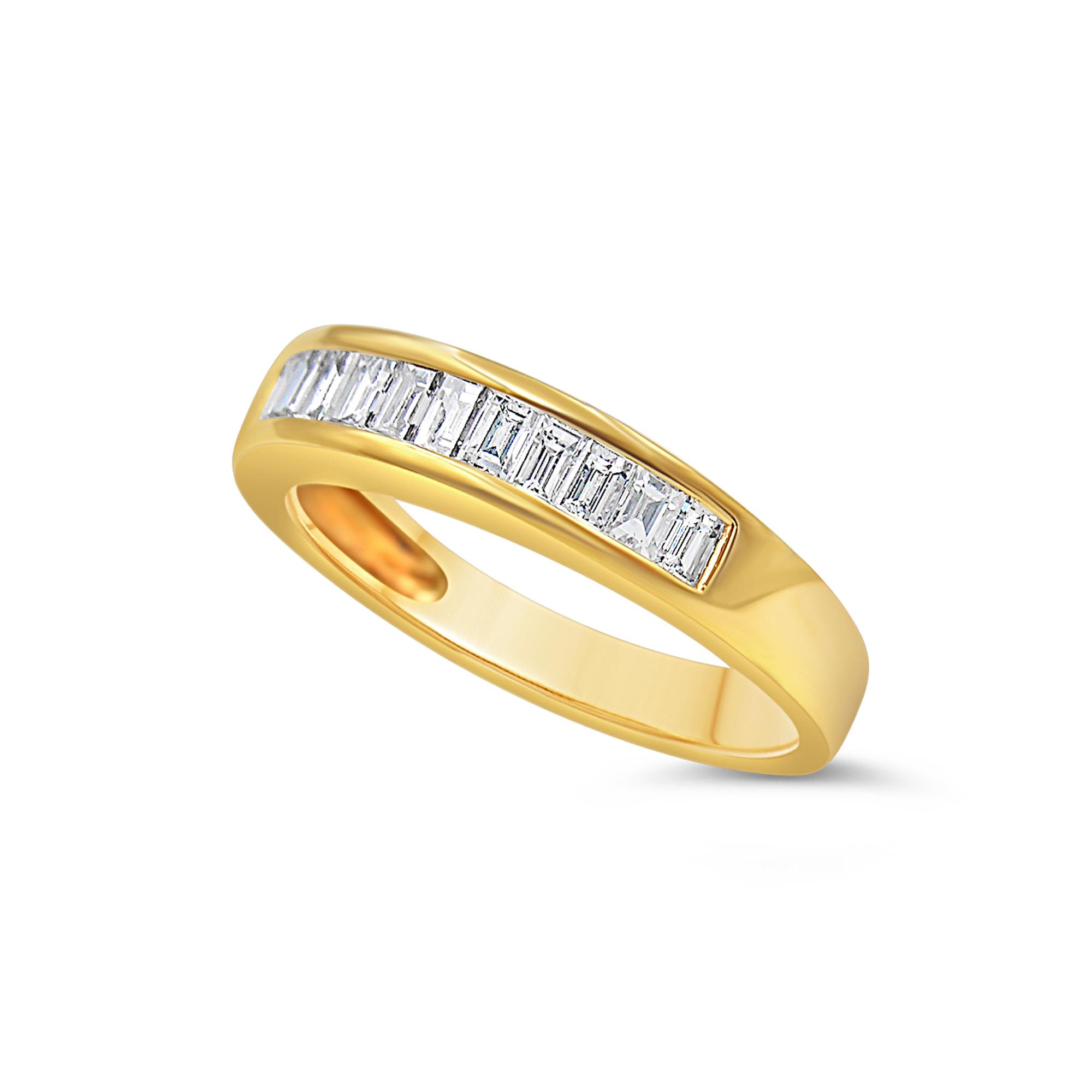 18k geel goud ring met 0.43 ct diamanten
