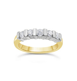 18k geel & wit goud ring met 0.60 ct diamanten
