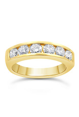 18k yellow gold ring with 1.29 ct diamonds