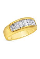 18k yellow gold ring with 1.38 ct diamonds