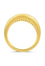 18k geel goud ring met 1.38 ct diamanten
