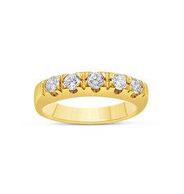 18k geel goud ring met 0.35 ct diamanten