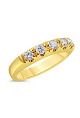 18k yellow gold ring with 0.35 ct diamonds