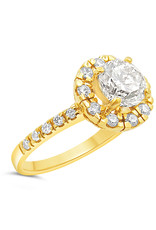 18kt yellow gold engagement ring with 1.99 ct diamonds