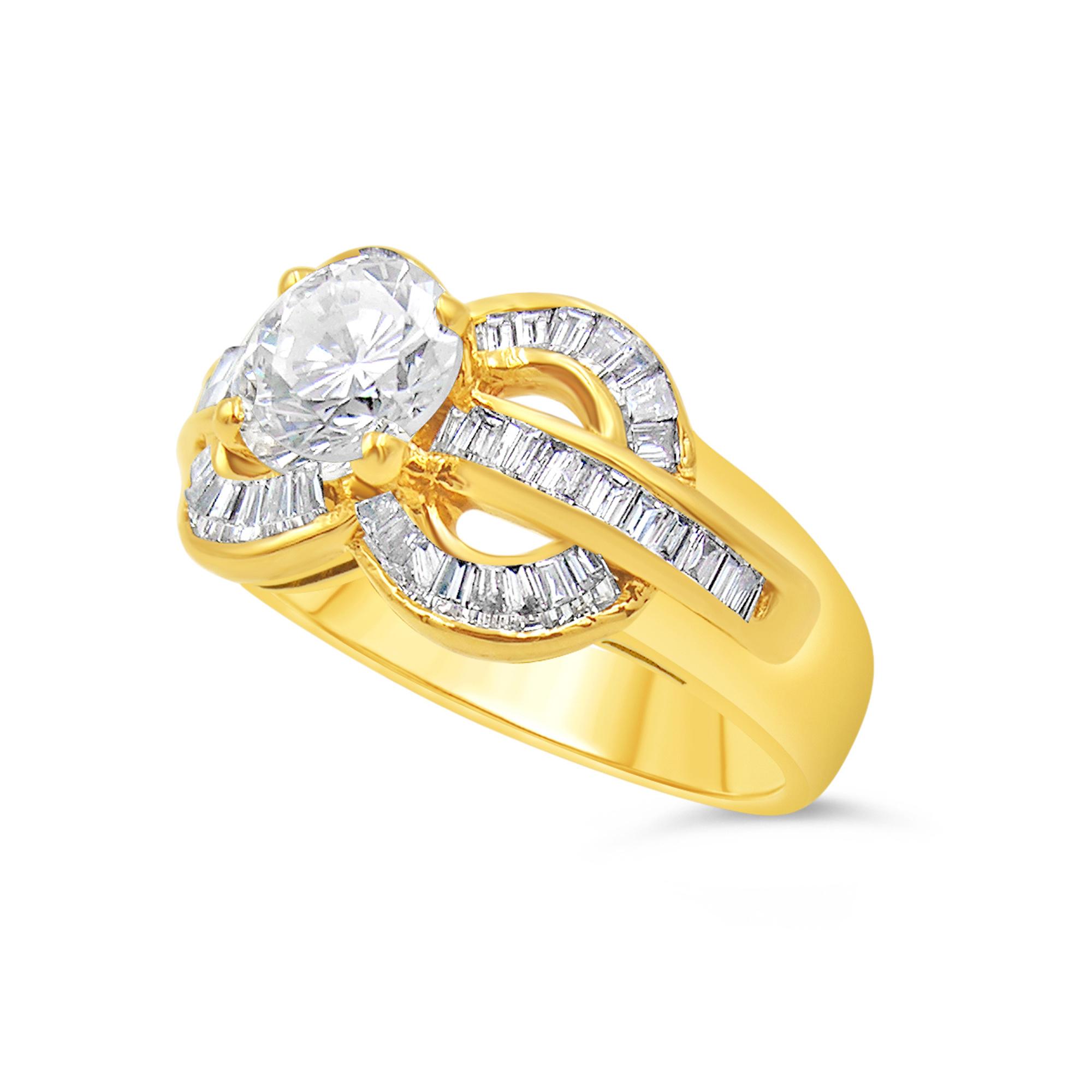 18kt geel goud verlovingsring met 1.62 ct diamanten
