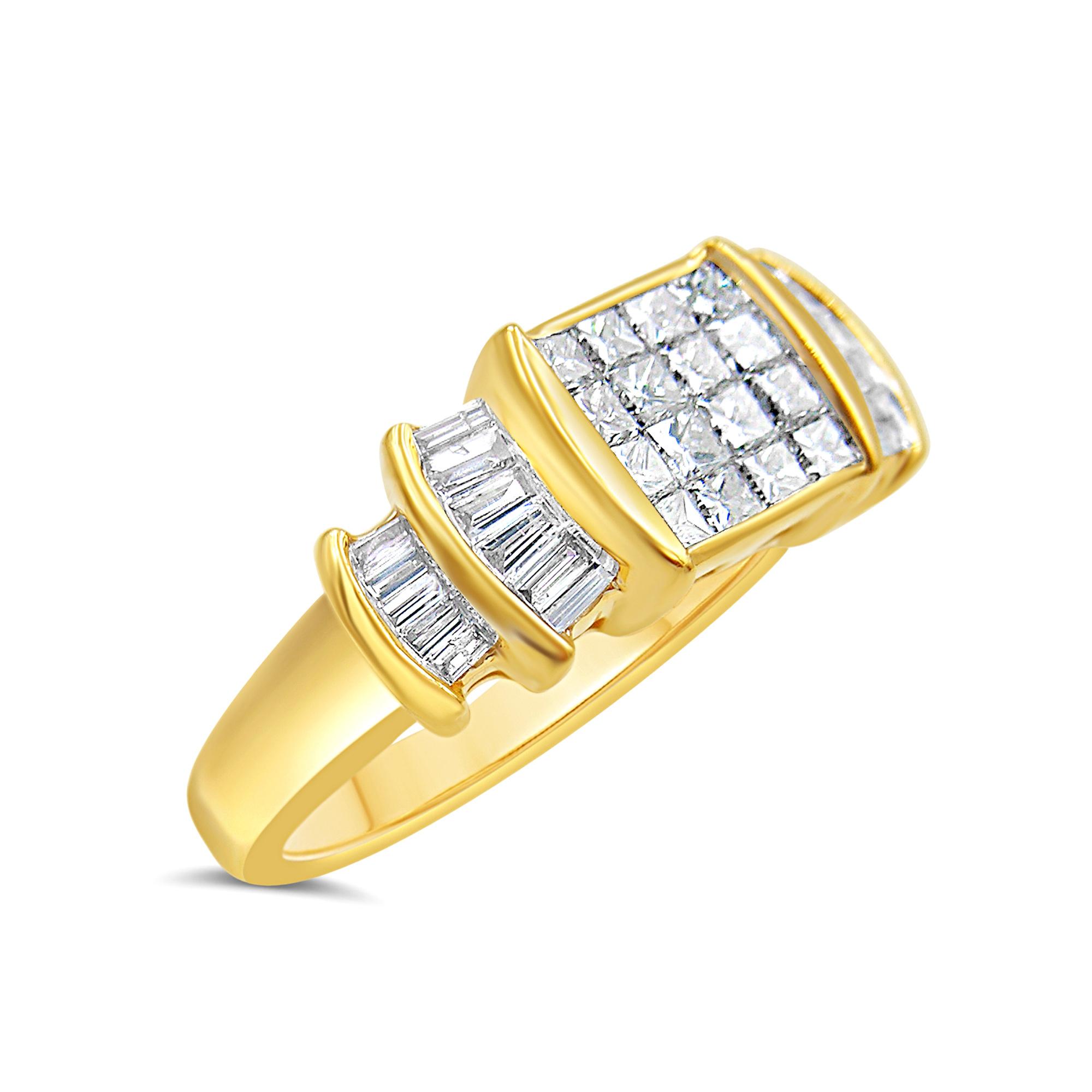 14kt geel goud verlovingsring met 1.51 ct diamanten