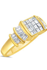 14kt yellow gold engagement ring with 1.51 ct diamonds