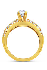18kt yellow gold engagement ring with 1.14 ct diamonds