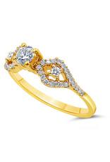 18kt geel goud verlovingsring met 0.51 ct diamanten