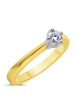 18kt yellow gold engagement ring with 0.26 ct diamond