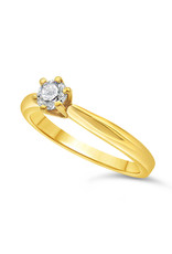 18kt geel goud verlovingsring met 0.33 ct diamant