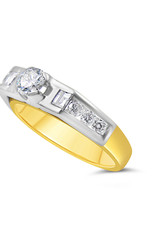 18kt geel goud verlovingsring met 0.94 ct diamanten