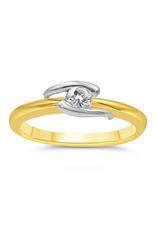 18kt geel goud verlovingsring met 0.20 ct diamant