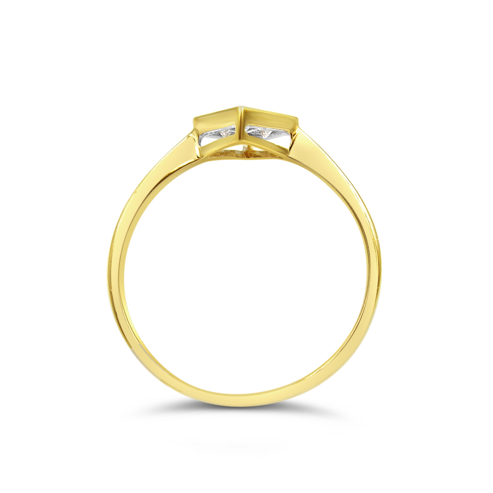 18kt geel goud verlovingsring met 0.21 ct diamant