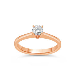 18kt rose gold engagement ring with 0.24 ct diamond