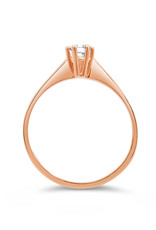 18kt roze goud verlovingsring met 0.22 ct diamant