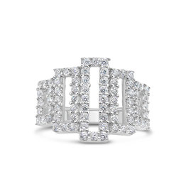 18kt white gold ring with ziconia