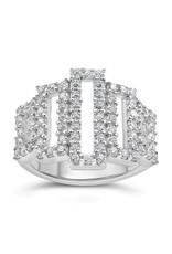18kt wit goud ring met zirkonia