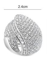 Elini 18kt wit goud ring met zirkonia